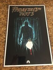 Friday The 13th Movie Part 3 Movie Poster Jason Silhouette Adult T Shirt