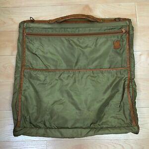 Hartmann Luggage Garment Bag Folding Thin Nylon Leather Trim 23 x 23 inch