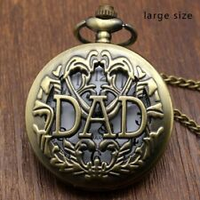 Antique Pocket Watch Hollow Design Pendant Bronze