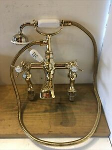 Refurbished Heritage Brass Bath Shower Mixer Taps - Great Quality Stunning  T65