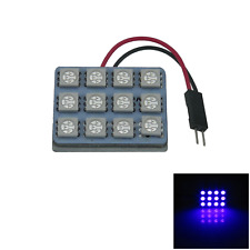 1x Blue RV Panel Interior Blub Door Lamp 12 5050 SMD LED T10 festoon J003
