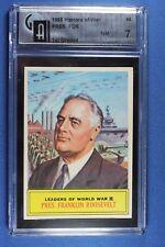 1965 Topps Battle Cards - #63 Pres. Franklin Roosevelt - Graded GA 7 NM