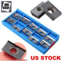 10pcs APKT1604PDFR-MA H01 Milling Carbide Inserts Blades For Aluminum, US STOCK