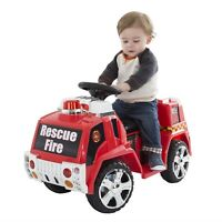 Battery Powered Ride on Toy Red Fire Truck Toddlers to 4 Years Indoor Outdoor