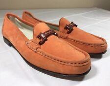 Salvatore Ferragamo Sport Loafers Made Italy Flats Shoes Buckle Women's Sz 8 AAA