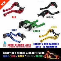 SHORT CNC Clutch & Brake LEVERS for Yamaha YZF R1 YZF-R1 2009 2010 2011 2012