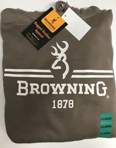 Browning Mens Hooded Sweater - Hunting - Size XL - Tan