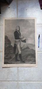 gravure  originale napoléon Bonaparte par Hilaire le Dru