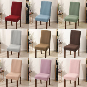 Stretch Plain Chair Cover for Wedding Banquet Dining Room Pustproof Protector
