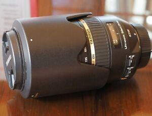 Tamron SP Nikon mount 70-300mm f4-5.6 VC telephoto zoom lens with hood & caps EC