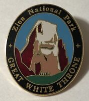 Zion National Park Great White Throne Travel Souvenir Lapel Hat Pin ~ Utah ~ UT