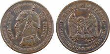 Napoléon III, module 10 centimes satirique, guerre 1870 -  4