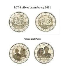 Lot  4 X 2 € Luxembourg 2021 Jean & Mariage (Relief + Photo) - Prévente