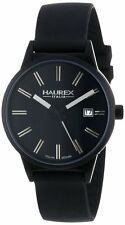 Haurex Italy Women's 6K378DNN Compact W Black Dial Black Silicone Date Watch