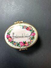"New listing Authentic Limoges Box "" Friendship"" Peint Main"