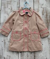 Baby GAP Girls Kids Sz 2T Beige Lightly Insulated Lined Trench Coat NEW