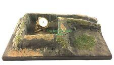 1:72 Scale WWII Battlefield Landscape Bunker Small Diorama Structure Piece