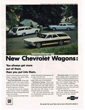 1968 Chevrolet Chevy Station Wagon Caprice, Impala, Chevelle Nomad Vtg Print Ad