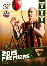 ✺Signed✺ 2015 HAWTHORN HAWKS AFL Premiers Card DAVID HALE