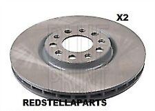 Blue Print FRONT Brake Disc X2 pair for ALFA ROMEO SPIDER BRERA 159 FIAT 500X