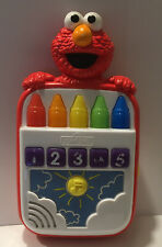 Playskool Sesame Street Steps To School ELMO'S Count Along Crayons Talking Toy