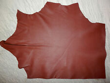 "BROWN Deer Hide Leather Remnants Scraps 10""x14"" avg 0.8mm thick #6580"