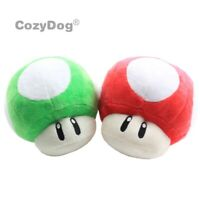 Super Mario Bros Plush Toy Red Green 1-UP Mushroom Soft Stuffed Animal Doll 6""
