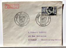 Yt 982 bis MARECHAL DE LATTRE DE TASSIGNY OBLI 1° JOUR 1954 FDC FRANCE ENVELOPPE
