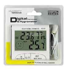 LCD Indoor/Outdoor Digital Thermometer Hygrometer Meter w/Wired External Sensor