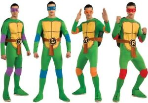 All 4 Teenage Mutant Ninja Turtles Group Costumes Donatello Leonard Mikey Raph