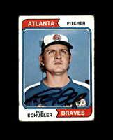 Ron Schueler Signed 1974 Topps Atlanta Braves Autograph