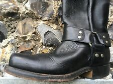 Men's Leather Black Leather Biker Boots - 1249 TONY MORA -  SIZE 40