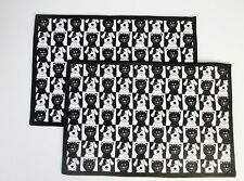 "Dog & Cat-Black & White -Set of 2 Placemats-19"" X 13""-Handmade Pizazz Creations"