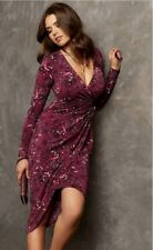 NEW Guess Kellie Wrap Dress XS Long Sleeve NWT $98 Bloom Flower Floral