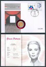 Monaco GRACIA PATRICIA / GRACE KELLY 2 EURO Souveränität als Numisbrief RARE