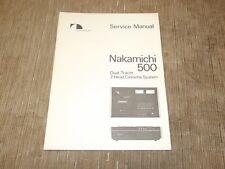 Nakamichi 500 Cassette Tape deck service manual  original