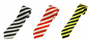 Stripes Men's Ties Fashion Slim Solid Satin Party Wedding Tie Necktie B4