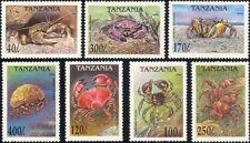 Tanzania 1994 Crabs/Marine Life/Nature/Sea/Animals/Wildlife 7v set (b5512)/