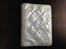 Auth CHANEL Icon line CC Logos Notebook Cover PVC Vintage 5F17S270