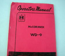 Mccormick Wd 9 Operators Manual Tractor