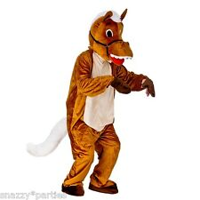 Happy Horse Mascot Adult Costume Mens Ladies Charity Fun Run Stag One Size 6 2