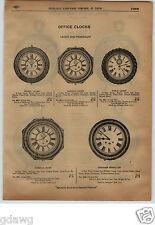1913 PAPER AD Lever Pendulum Office Wall Clock Ansonia Gresham Dalite Alarm
