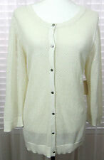 COLDWATER CREEK Size 2X 20-22 New With Tags Natural Silk Cotton Mesh Cardigan