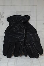 Wolverine Black Leather Motorcycle Gloves Lined EUC Size M