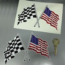 Cross Check and Stars & Stripes USA flag car stickers