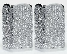 2 Bath & Body Works SILVER TOSSED GEM DIAMOND Foaming Hand Soap Holder Sleeve