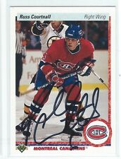 Russ Courtnall Signed 1990/91 Upper Deck Card #259