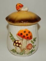 """Vintage 1978 Sears Merry Mushroom Small 6.25"""" Kitchen Canister"""