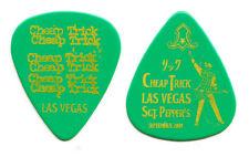 Cheap Trick Rick Nielsen Las Vegas Green Guitar Pick - 2009 Tour