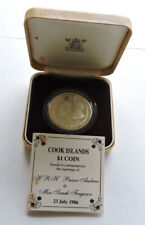 More details for 1986 cook islands silver proof $1 andrew & sarah wedding cased with coa